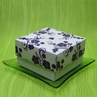 Dárková krabička - svíčky z palmového vosku fialové