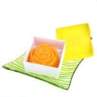 Dárková krabička papírová mašle (svíčka) - růže žlutá