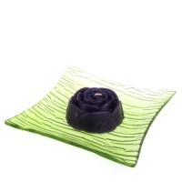 Dárková krabička papírová mašle (svíčka) - růže fialová