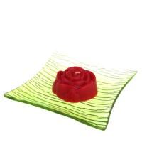 Dárková krabička papírová mašle (svíčka) - růže červená