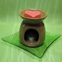 Dárková krabička (aromavosk) - srdíčko oranžové