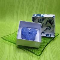 Dárková krabička (svíčka) - srdíčko modré