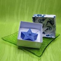Dárková krabička (svíčka) - hvězdička modrá