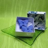 Dárková krabička (svíčky) - motýlci modří