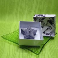 Dárková krabička (svíčka) - hvězdička fialová