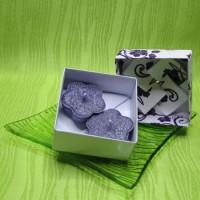 Dárková krabička (svíčky) - kytičky fialové