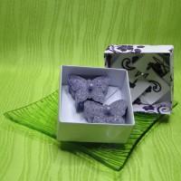 Dárková krabička (svíčky) - motýlci fialoví