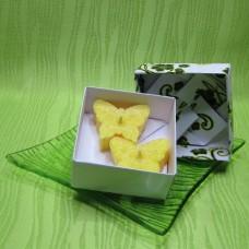 Dárková krabička (svíčky) - motýlci žlutí