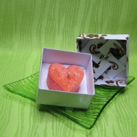 Dárková krabička (svíčka) - srdíčko oranžové