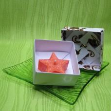 Dárková krabička (svíčka) - hvězdička oranžová