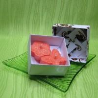 Dárková krabička (svíčky) - motýlek a kytička oranžoví