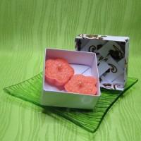Dárková krabička (svíčky) - kytičky oranžové