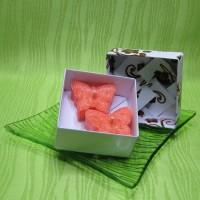 Dárková krabička (svíčky) - motýlci oranžoví