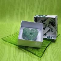 Dárková krabička (svíčka) - srdíčko zelené