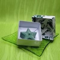 Dárková krabička (svíčka) - hvězdička zelená