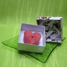 Dárková krabička (svíčka) - srdíčko červené