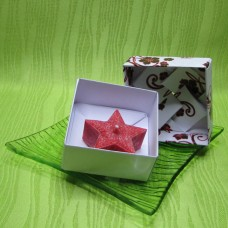 Dárková krabička (svíčka) - hvězdička červená