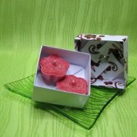 Dárková krabička (svíčky) - kytičky červené