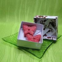 Dárková krabička (svíčky) - motýlci červení