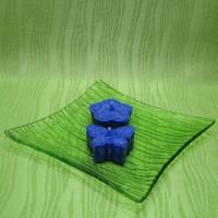 Svíčky - motýlek a kytička modří