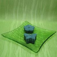Svíčky - motýlek a kytička zelení