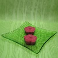 Svíčky - kytičky červené