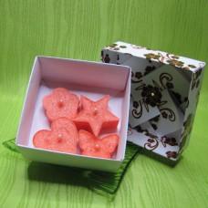 Dárková krabička - svíčky z palmového vosku oranžové