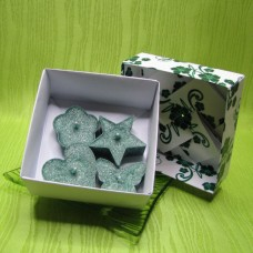 Dárková krabička - svíčky z palmového vosku zelené