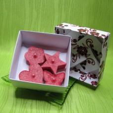 Dárková krabička - svíčky z palmového vosku červené
