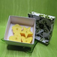 Dárková krabička - svíčky z palmového vosku žluté