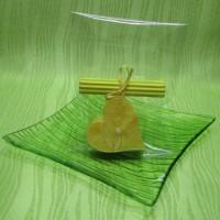 Svíčka - srdíčko žluté