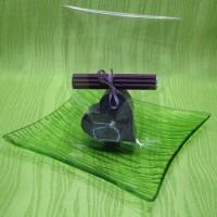 Svíčka - srdíčko fialové
