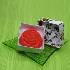Dárková krabička (svíčka) - růže oranžová