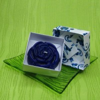 Dárková krabička (svíčka) - růže modrá
