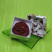 Dárková krabička (svíčka) - růže červená