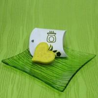 Dárková krabička (aromavosk) - srdíčko žluté