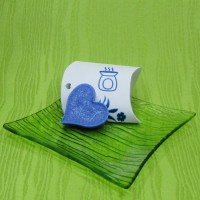 Dárková krabička (aromavosk) - srdíčko modré
