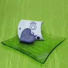 Dárková krabička (aromavosk) - srdíčko fialové