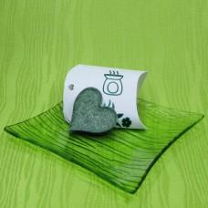 Dárková krabička (aromavosk) - srdíčko zelené