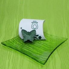Dárková krabička (aromavosk) - motýlek zelený