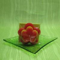 Svíčka - květina žlutooranžová