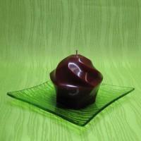 Svíčka - pětiúhelník červený