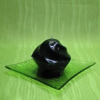 Svíčka - pětiúhelník zelený
