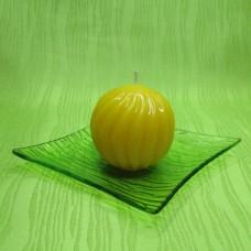 Svíčka - spirálová koule žlutá