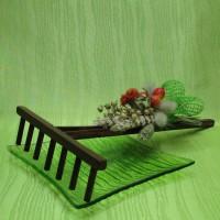 Hrabičky dřevěné - zelená dekorace