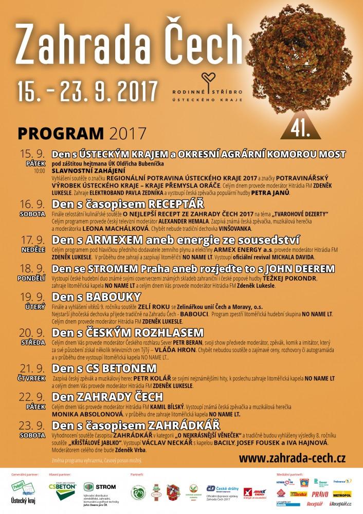Program Zahrady Čech 2017